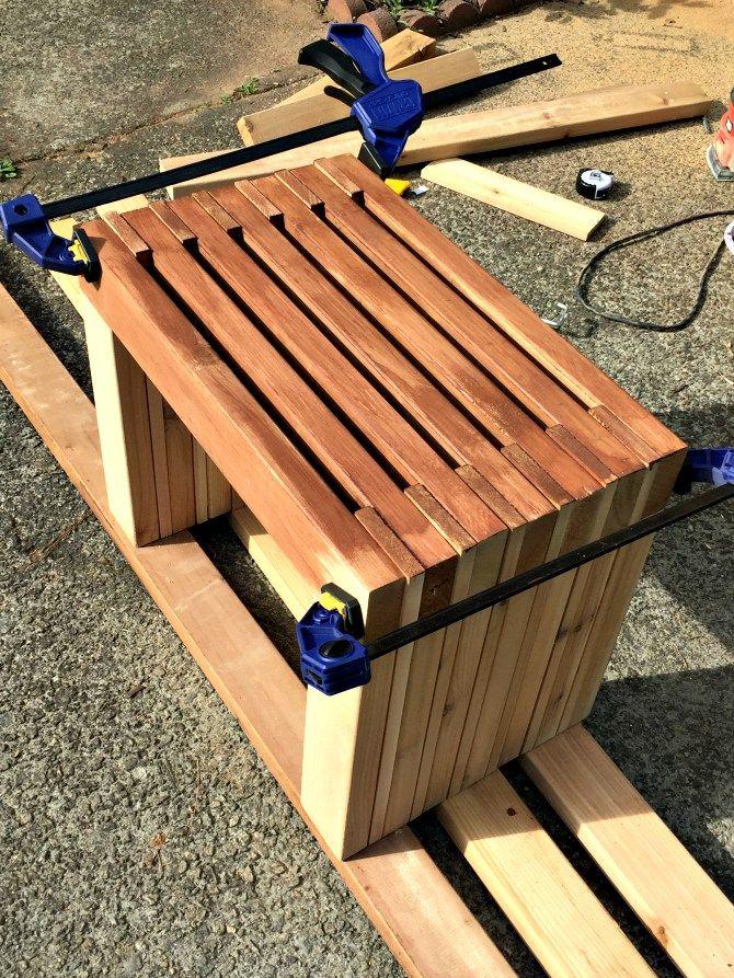 Rustic Cedar Bench - Outdoor DIY Challenge - The Ugly Duckling House