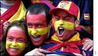 Sports. Spain has the best soccer team in the world. A huge amount of the people in Spain love the sport, but there are exceptions !