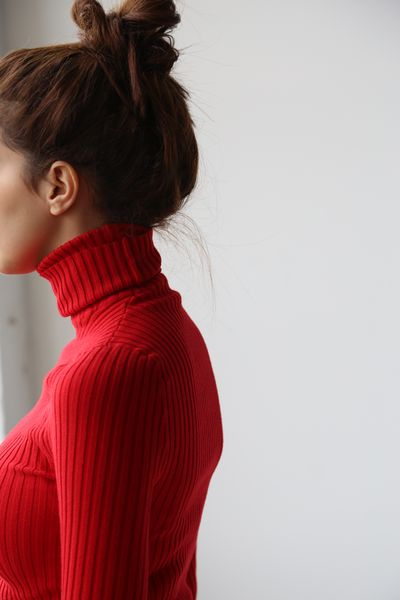 red turtleneck for valentine's day