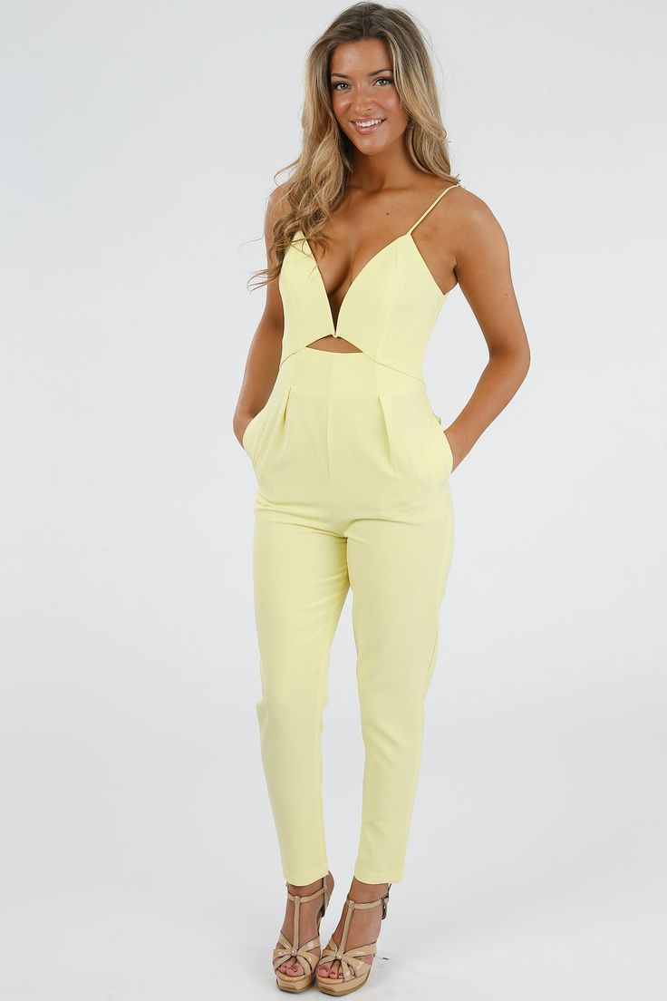 Lucy Yellow Plunge Jumpsuit