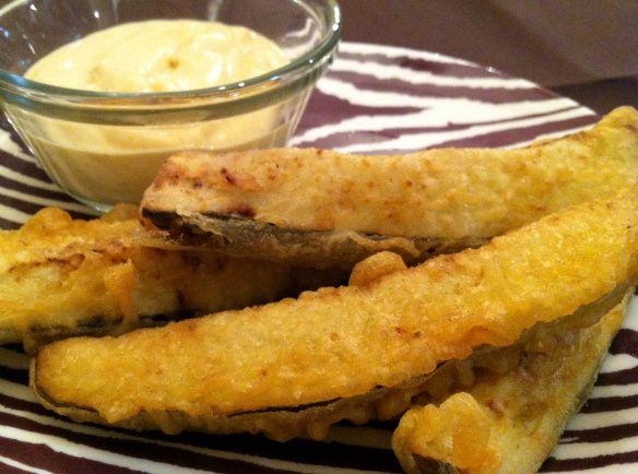 Beer Battered Crispy Baked Pickle Fries Recipes — Dishmaps