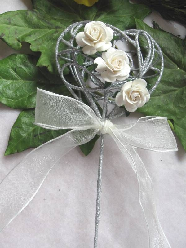 Silver wedding Wand #flower girl ... Wedding ideas for brides, grooms, parents  planners ... https://itunes.apple.com/us/app/the-gold-wedding-planner/id498112599?ls=1=8 … plus how to organise an entire wedding, without overspending ♥ The Gold Wedding Planner iPhone App ♥