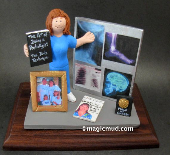Doctor of Radiology Figurine  www.magicmud.com    1 800 231 9814    magicmud@magicmud.com $225  Personalized #Medical Gift Figurines, custom created just for you!    Perfect present for all #Doctors, a  heartfelt gift for birthdays, graduations, anniversaries, new office openings, retirement, as a thank you to a great #physician  Surgeon, cardiologist, therapist, nurse, ob-gyno, podiatrist, psychiatrist, nephrologist, urologist, radiologist, any occupation made to to order by #magicmud