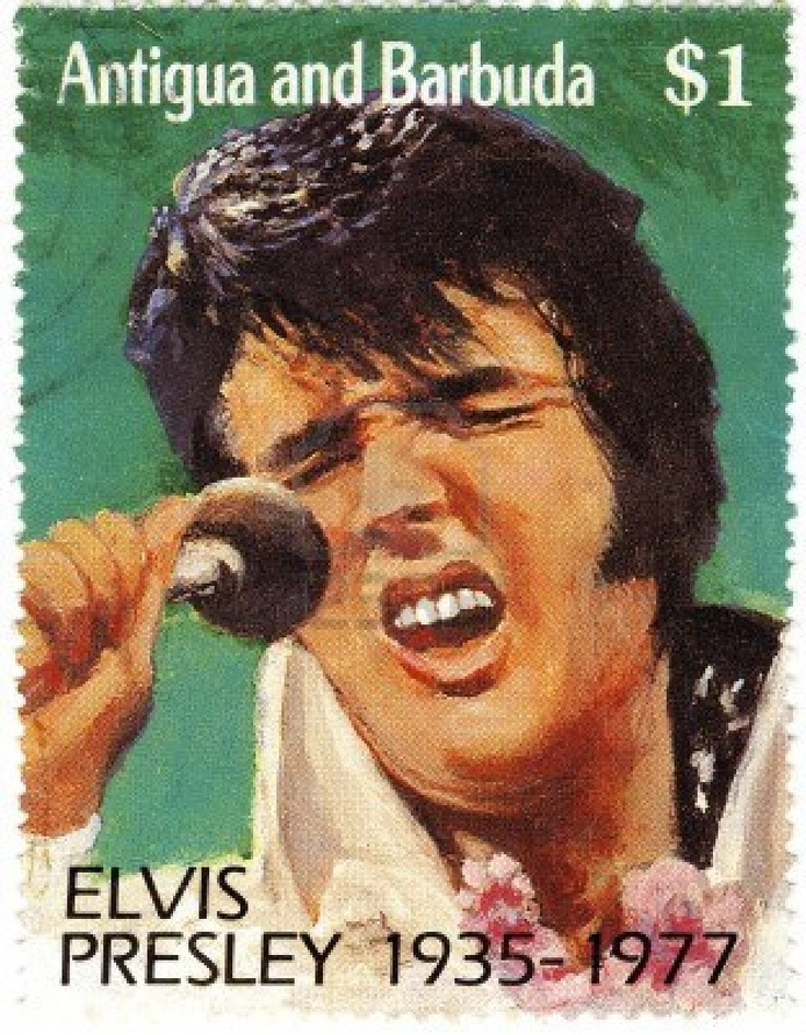 vintage stamp with Elvis Presley