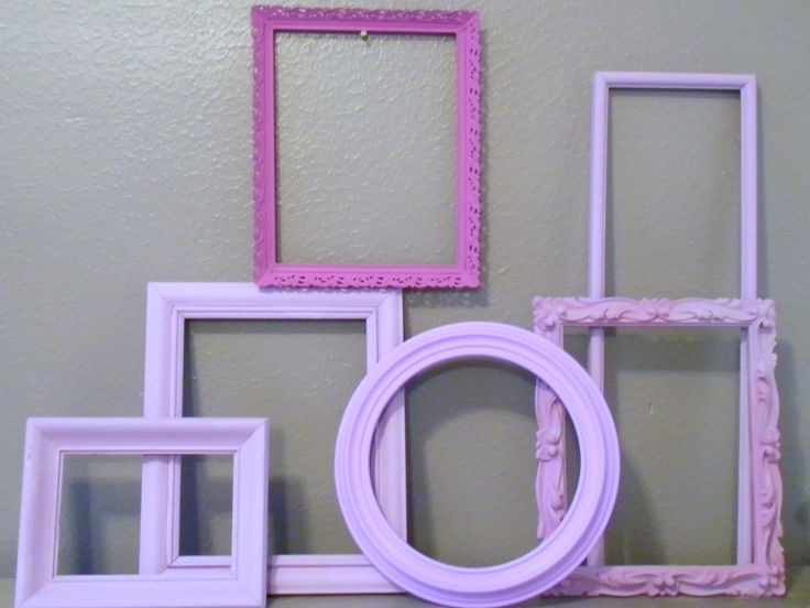Lovely Lavender Purple Picture Frames Romantic Shabby Chic French Country. $26.00, via Etsy.