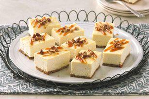 Ces barres arrosées de caramel sont très faciles à faire et encore plus faciles à partager, puisqu'on peut les tenir dans la main.