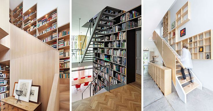 Stairs Design Ideas - 12 Examples Of Staircases With Bookshelves