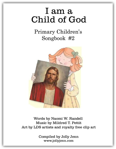 """""""I am a Child of God"""" singing time visuals"""