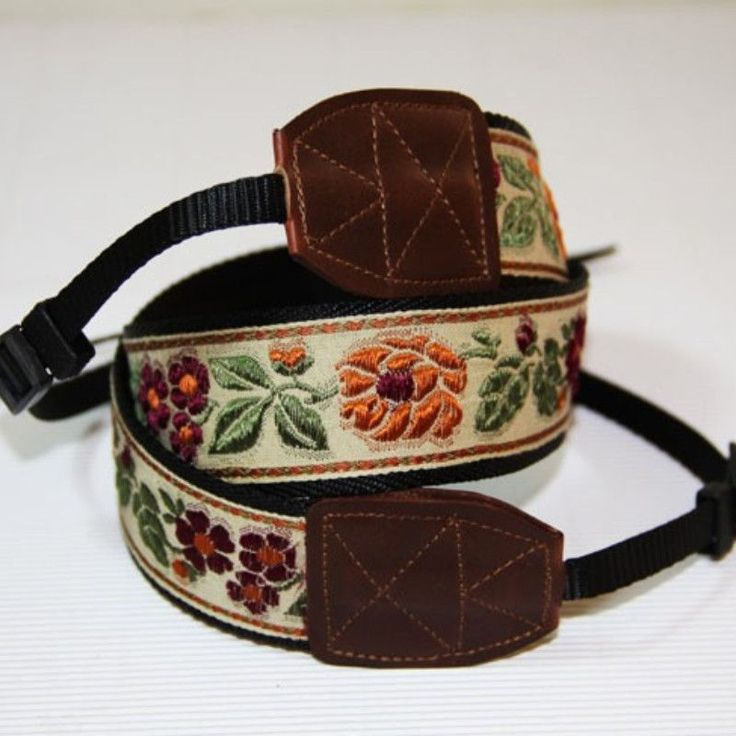 Camera Strap for DSLR with rose Bonehead Neck Strap -L015