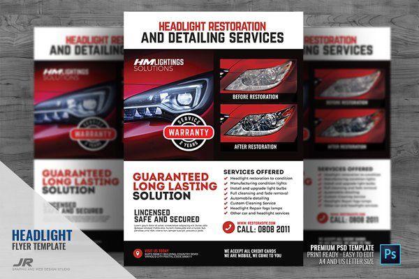 Headlight Restoration Service Flyer