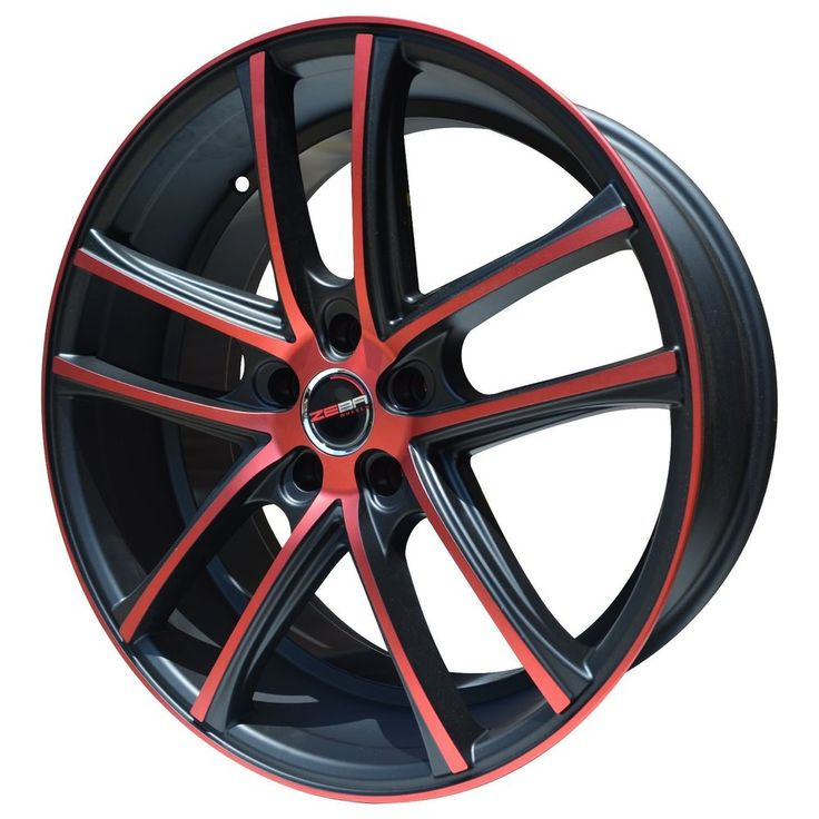 4 GWG Wheels 20 inch Black Red ZERO Rims fits 5x120 CHEVY MALIBU LTZ 2013-2015