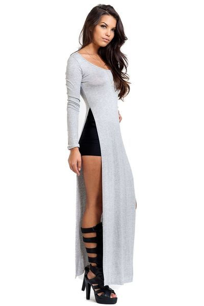 69 Best Images About Side Slit Fashion On Pinterest Grey