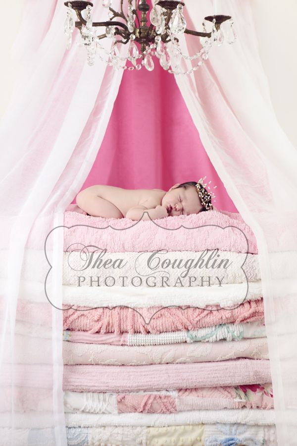 """next baby girl will also do this... :) Princess and the Pea was my fave story, and Meme still calls me her """"princess 'n the pea""""! :)Newborns Shoots, Photos Ideas, Newborns Photos, Baby Princesses, Newborns Pics, Baby Girls, Baby Photography, Baby Photos, Photography Ideas"""