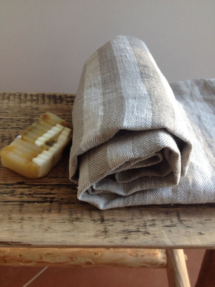 Set of two large linen bath towels, striped natural bath towel for HIM, beach towel, massage towel by Linenbee by Linenbeeshop on Etsy