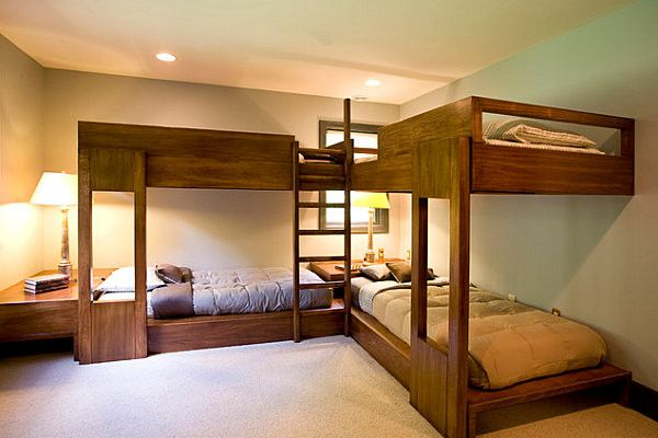 Wonderful L Shapes Bunkbed For Adult Kids Bedroom Corner Bunk Beds Bunk Bed Plans Loft