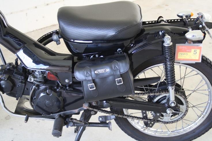 CT110 - black, back end, bag, tail lights