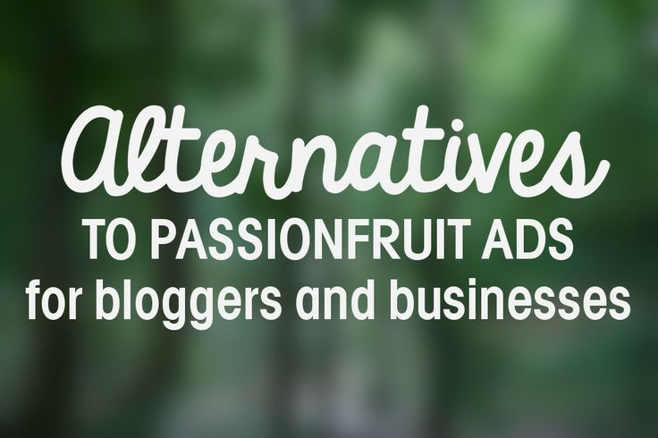 Alternatives to Passionfruit Ads