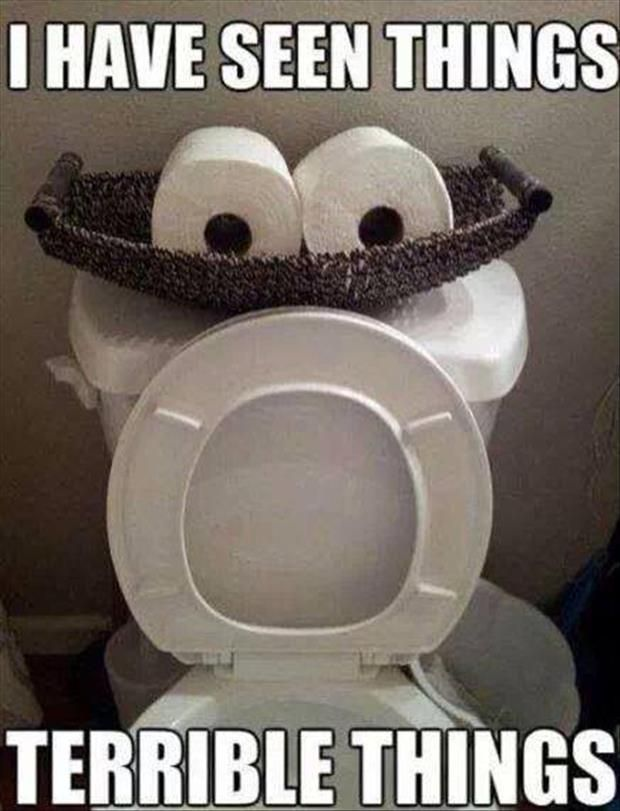 Yikes! We wouldn't want to be in that toilet's position. | Jon-E-VAC | (888) 942-3935 | www.jonevac.com