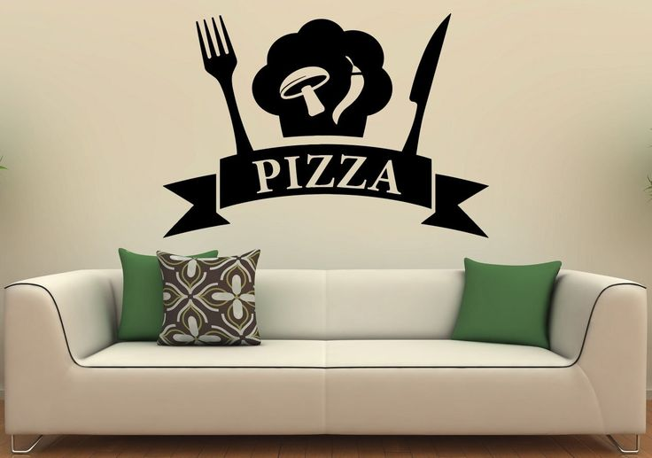 Pizzeria wall decal vinyl sticker pizza restaurant
