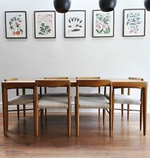 Danish teak dining table   chairs by H  W  Klein for Bramin 672 best Mid Century Dining Rooms images on Pinterest  . Mid Century Teak Dining Table And Chairs. Home Design Ideas
