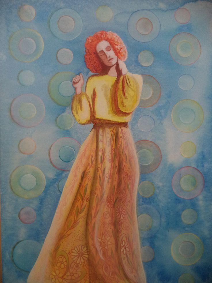 A semente / Alê Vilaverde / acrílica sobre tela / art / acrylic / painting