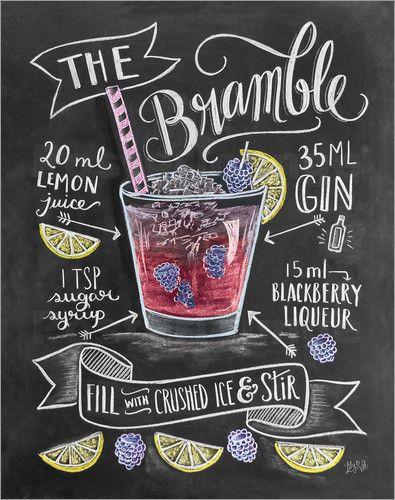 Poster / Leinwandbild Brombeer-Cocktail - Lily & Val