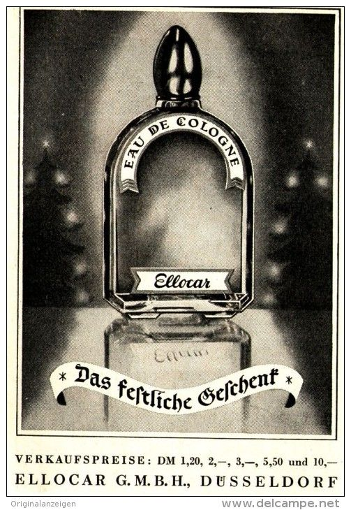 Original-Werbung/ Anzeige 1950 er Jahre - ELLOCAR EAU DE COLOGNE - ca. 66 x 100 mm