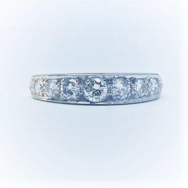 Seven Stone Art Deco Diamond Ring circa 1930