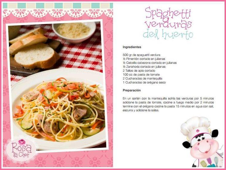 Spaghetti Verduras del huerto.