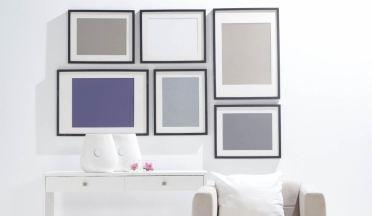 Ja... onze nieuwe kleur ideeën voor de woonkamer! Mooi paars is niet lelijk!