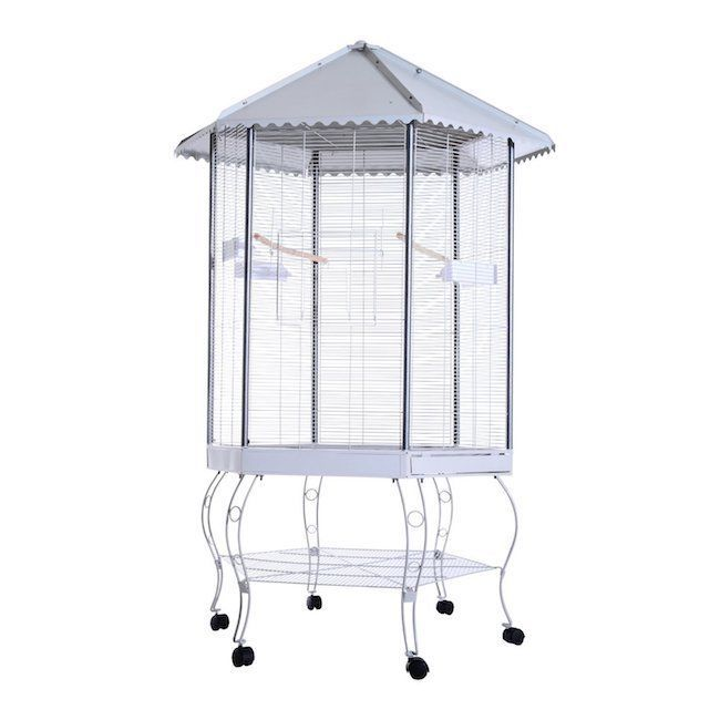 Bird Cage Flight Cages Feeder Cover Big Large Metal Decorative Outdoor Indoor