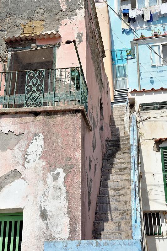 Procida , steep stairs of marina Corricella #mediterranean