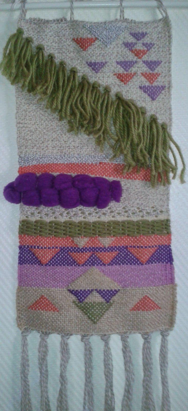 aux fils des couleurs - tissage laine et fils de récupération - hand made weaving