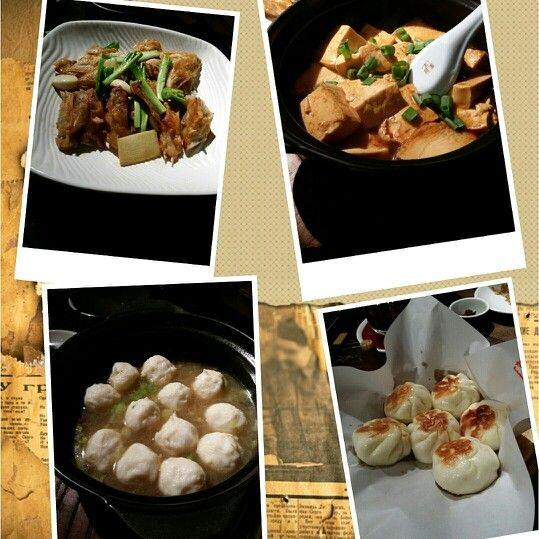 """美甲完去左食 """" 母米粥 """" ,煎焗魚咀 ,順德水豆腐 ,黑蘑雞湯浸墨魚丸 ,生煎包 ,同 肥生 二人 食 份量 啱啱好"""