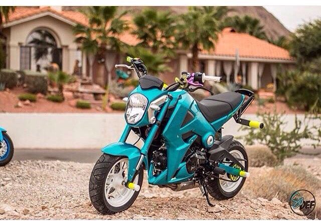 Motorcycles and bikes Blue Honda Grom
