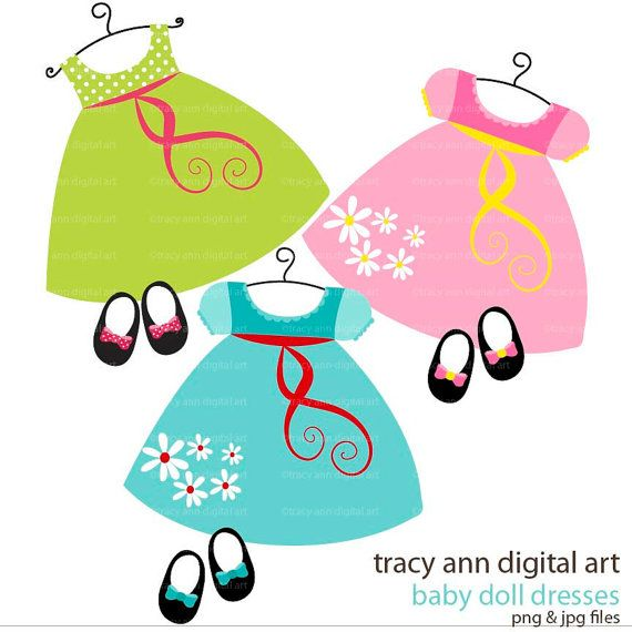 Clip Art - Baby Doll dress and shoes