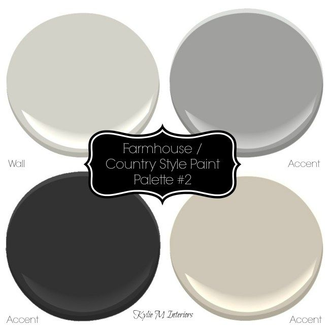 Farmhouse Country Style Paint Palette With Sherwin Williams Paint Colours For The Living Room Perhaps