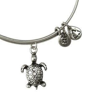 Alex and Ani Sea Turtle Expandable Wire Bangle - Russian Silver