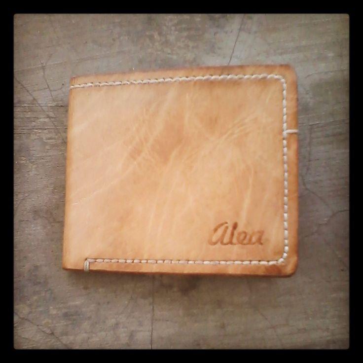 Alea Natural Leather wallet handstitched