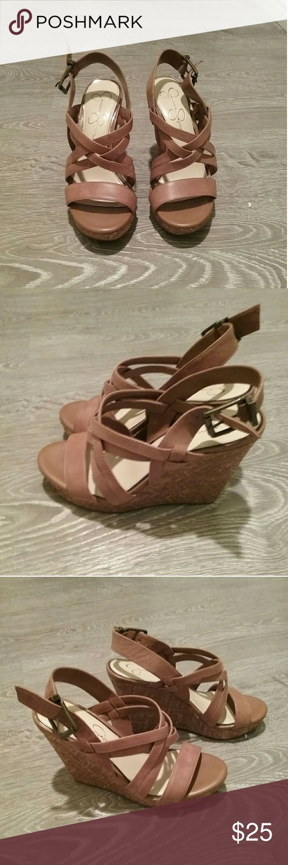 Jessica Simpson Wedges Cute Wedges in excellent condition! Jessica Simpson Shoes Wedges