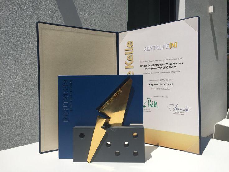 Es ist amtlich: Die Marketagent.com Mansion ist das schönste Marktforschungsinstitut des Landes und wurde mit der Goldenen Kehle, ähhhhh Kelle, der höchsten Auszeichnung für vorbildliche Baugestaltung in Niederösterreich, ausgezeichnet!