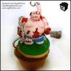 DOTA Cupcake_Defense Against the Ancients_Gaming Cupcake_Gamers_Geeky Cupcake_Geek Cake_Pudge Cupcake_Bloody Butcher 1