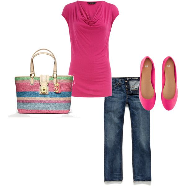 Pink Spring Outfit, created by littlemomentofpeace on Polyvore