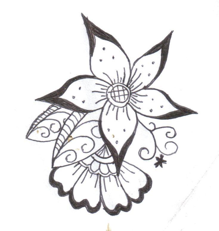 Tattoo Ideas Easy To Draw: Henna Flower 2 By Komekoro On