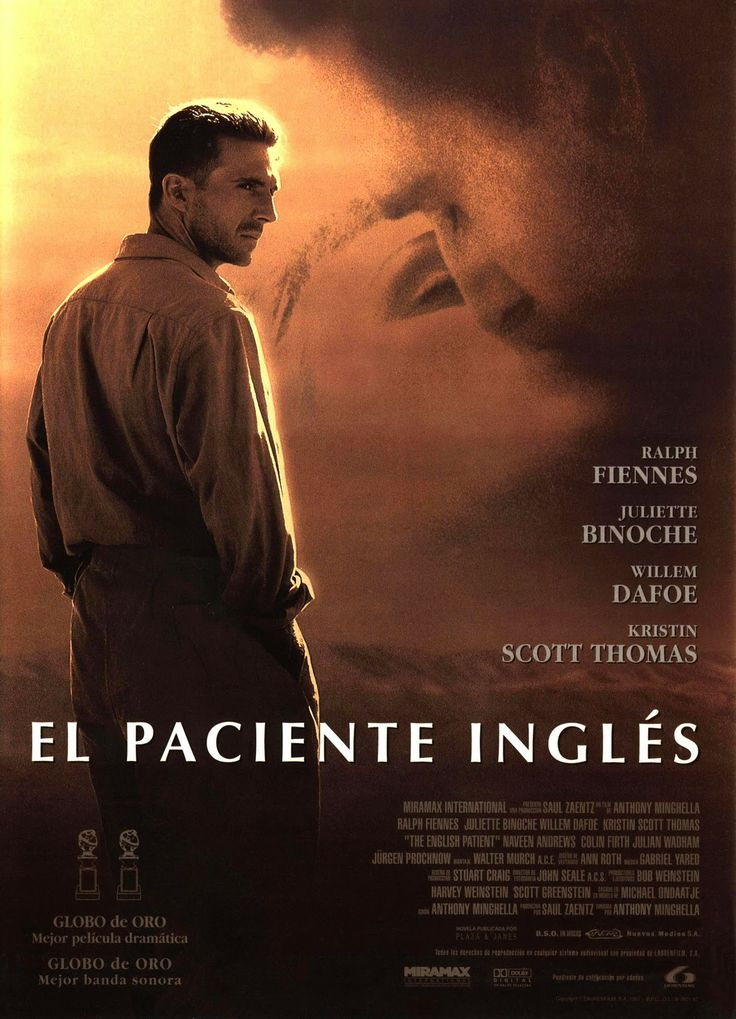 El paciente inglés (1996) Reino Unido. Dir: Anthony Minghella. Romance. Drama. Aventuras. II Guerra Mundial - DVD CINE 1202
