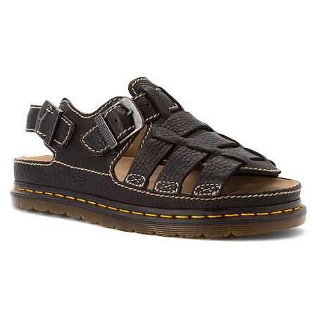 Dr. Martens 8092 Fisherman Sandal | Men's - Black Grizzly