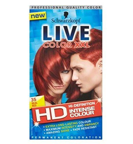Schwarzkopf Live Color Xxl Hd 35 Real Red Permanent Red Hair Dye -- Learn more by visiting the image link.