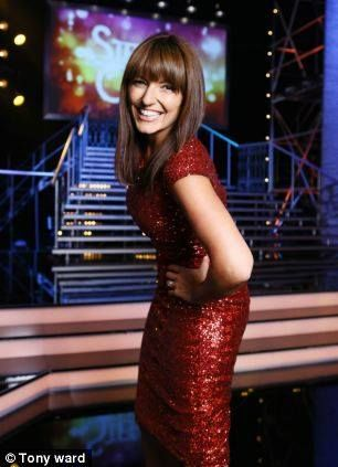 The red sequin ST MORITZ dress worn by Davina McCall is available to order now 01474 323829