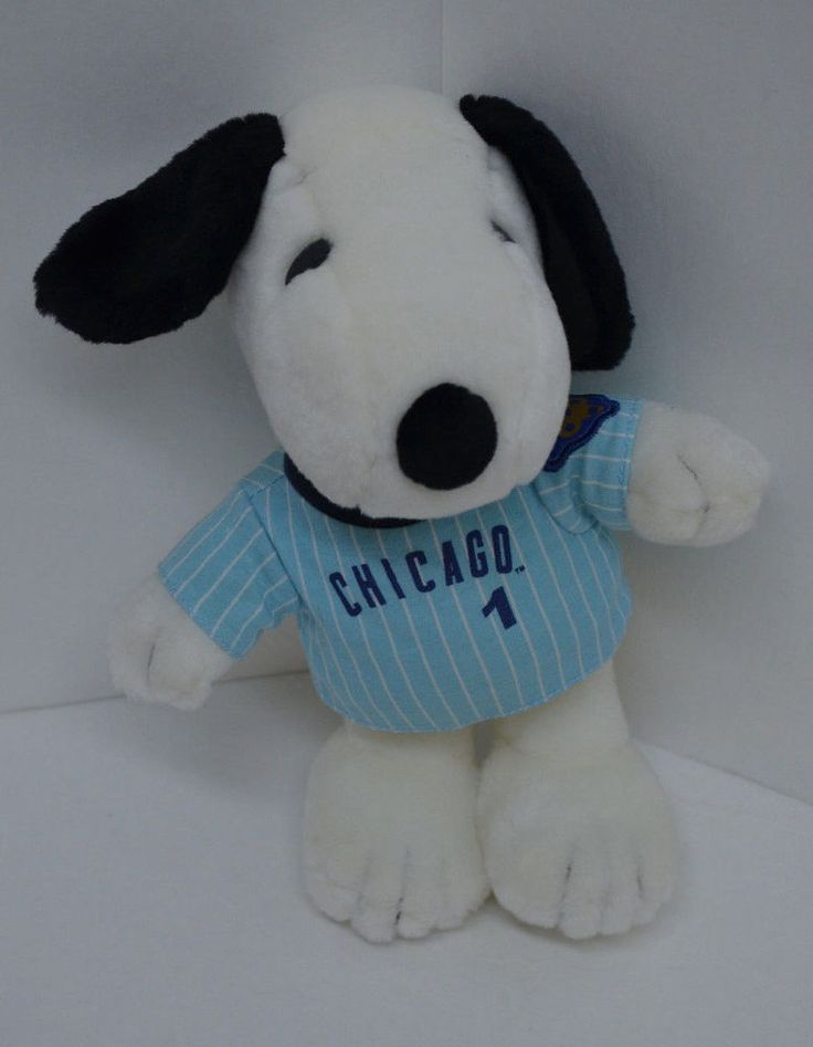 "Peanuts Snoopy Metlife Plush Chicago Shirt Blue Striped United Feature 10"" #UnitedFeatureSyndicate http://stores.ebay.com/Lost-Loves-Toy-Chest/_i.html?image2.x=24&image2.y=8&_nkw=snoopy"