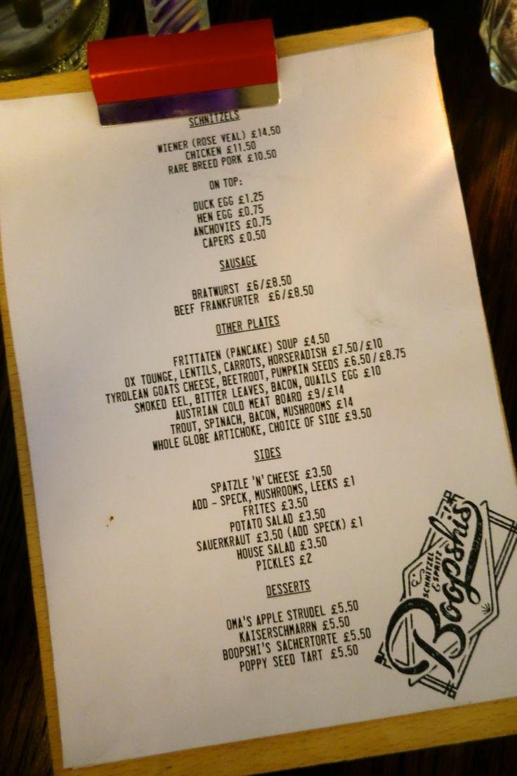 Boopshi's - Schnitzel & Spritz - The Londoner